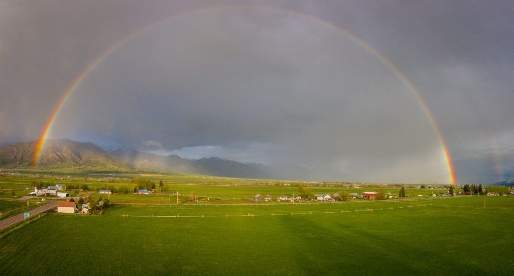 Rainbow over Star Valley.