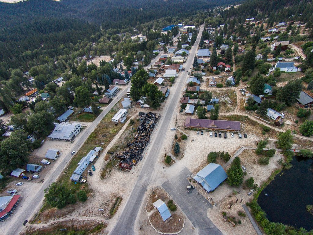 Wide Shot of Idaho City